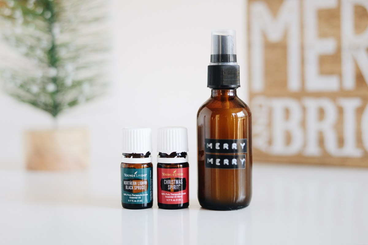 DIY Essential Oil Holiday Room Spray | 12 Days of Tutorials